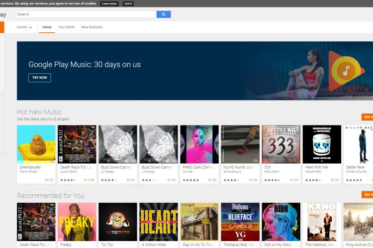 google play music apps for android free