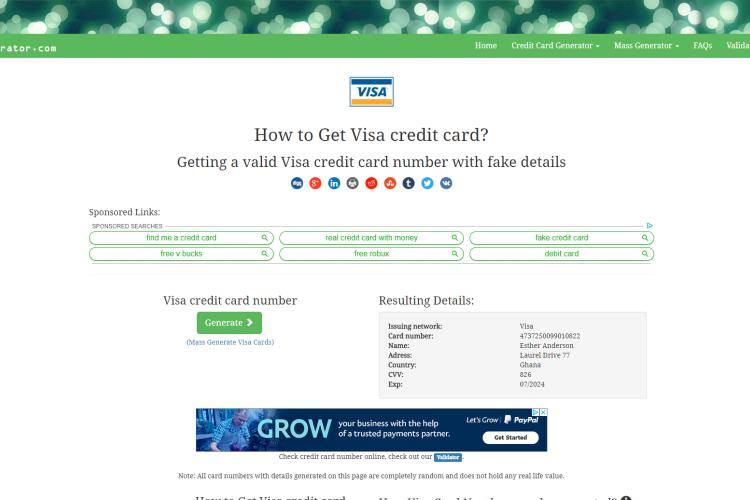 Best Credit Card Generator with CVV and Expiration Date 2019: CCard Generator