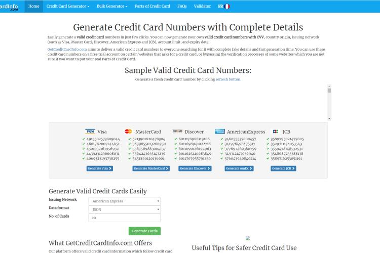 Get Credit Card Info