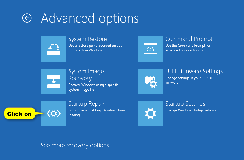 Windows 10 won't boot Startup repair