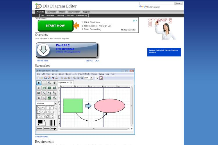 10+ Best Free MS Visio Alternatives: Dia
