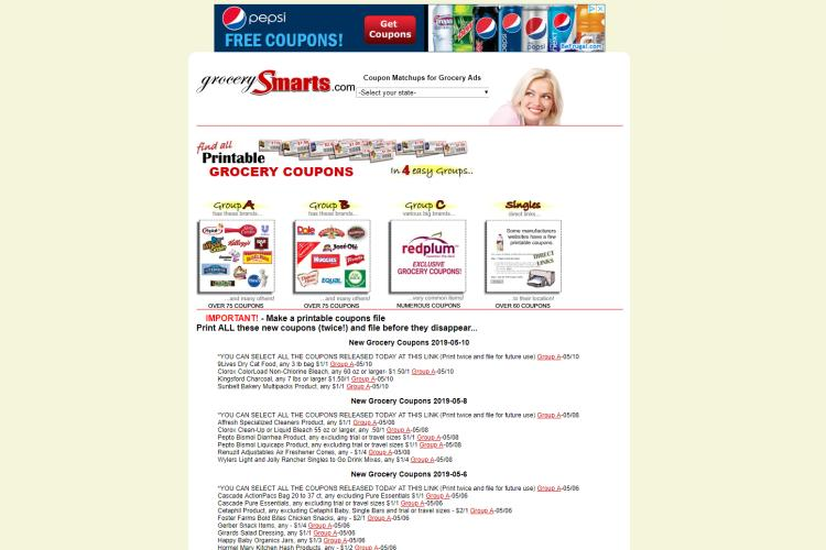 50 Best Websites For Free Printable Grocery Coupons