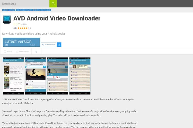 Android Video Downloader (AVD)